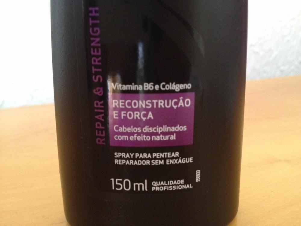 Testando:: Spray para Pentear Reconstrução e Força da TRESemmé (2/6)