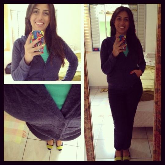 Cardigã e Jeans Donna Z e Sapatilha Shoestock