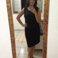Hoje eu fui assim...de vestido preto