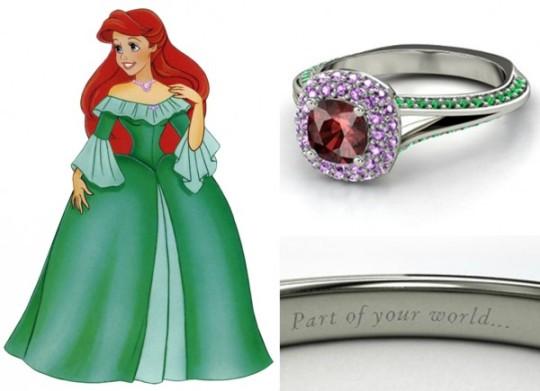Ariel - rubi, ametistas e esmeraldas ($ 2.150)