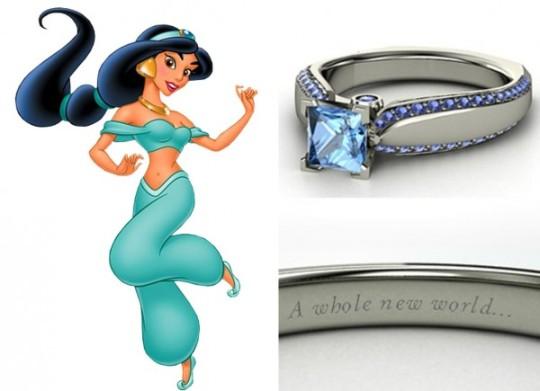 Jasmine - topázio azul e diamantes ($ 1.700)